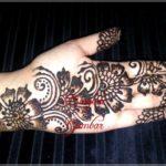 gambar henna india di telapak tangan