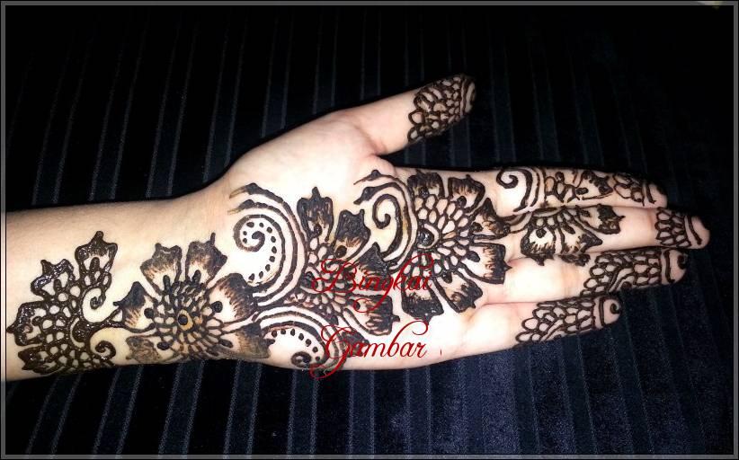 Gambar Henna India Di Telapak Tangan Bingkaigambar Com