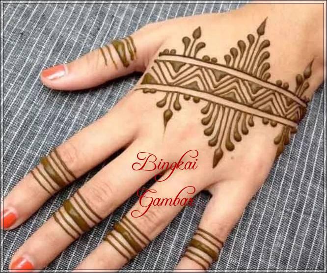 Gambar Henna India Sederhana Bingkaigambar Com