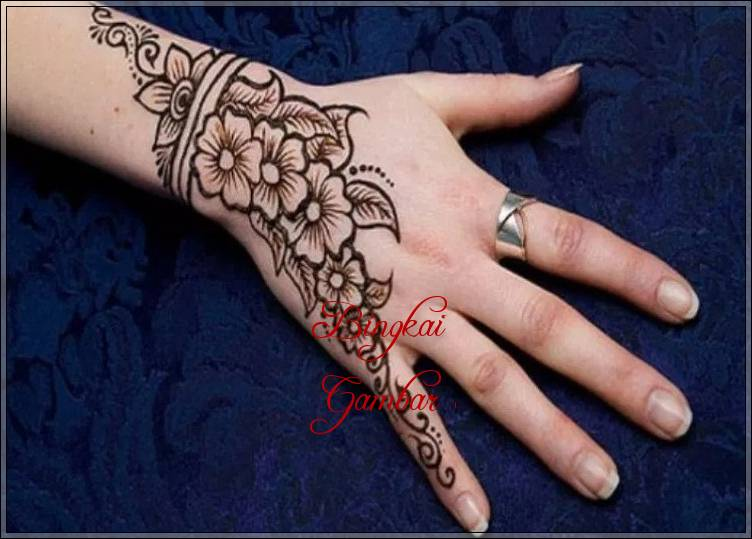 gambar henna india simple