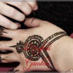 gambar henna india yang mudah