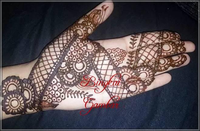 gambar henna india yang simple