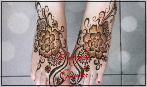 gambar henna kaki india