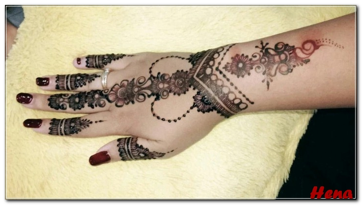 gambar henna lengan tangan
