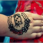 gambar henna motif kartun