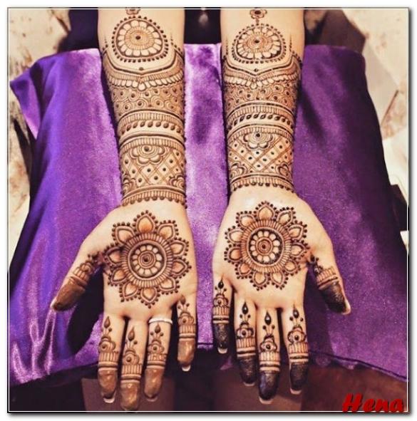 gambar henna tangan elegan
