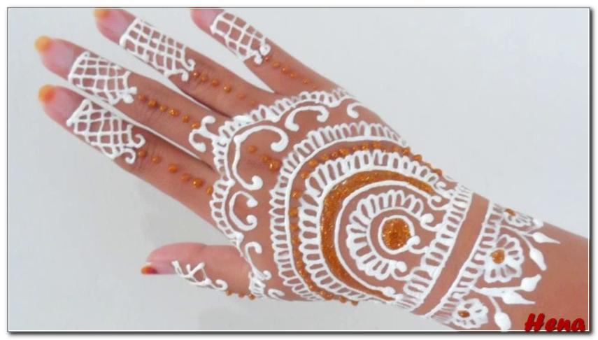 Gambar Henna Tangan Pengantin Warna Putih Bingkaigambar Com
