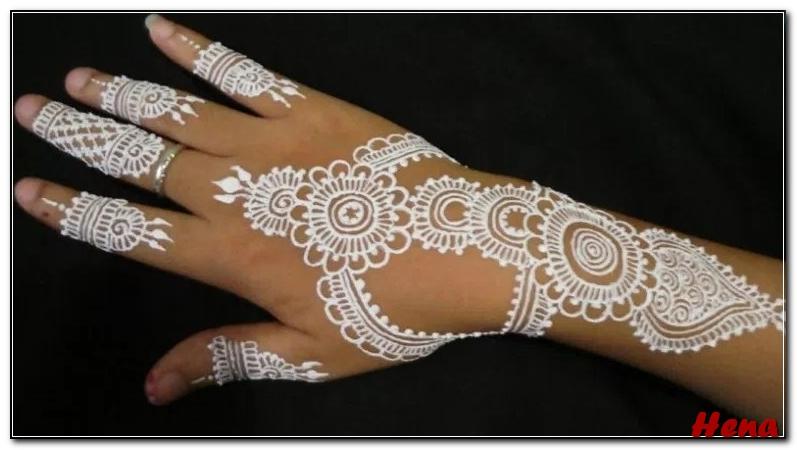 Gambar Henna Tangan Warna Putih Bingkaigambar Com