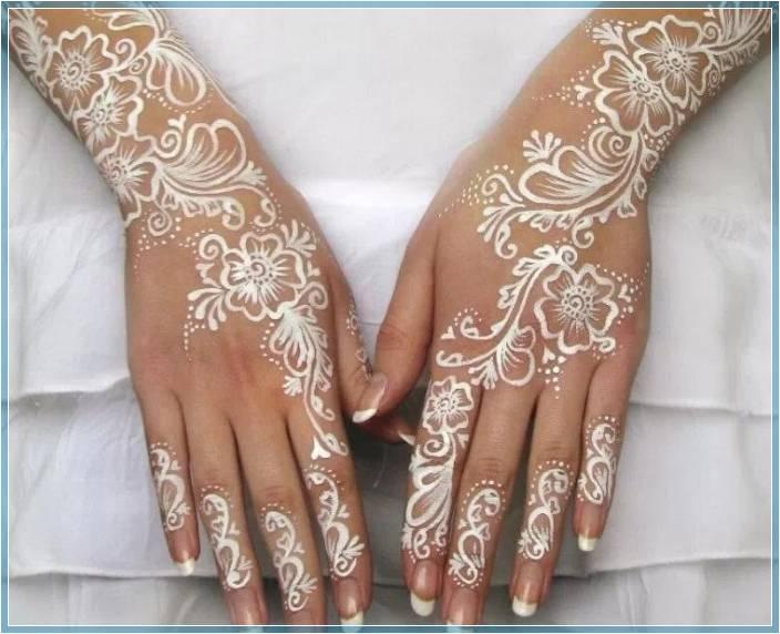 gambar henna terbaru warna putih Terbaru
