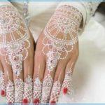 gambar henna yang warna putih Terbaru