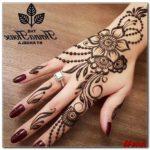 gambar hias tangan henna