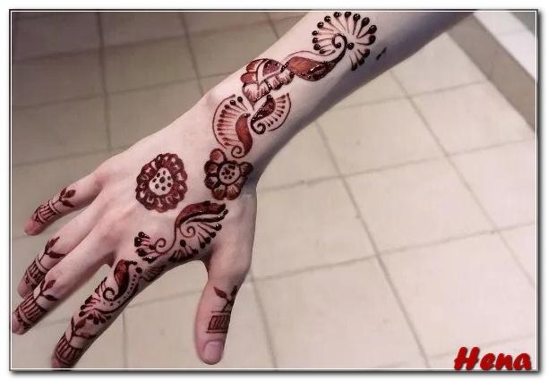 henna di lengan simple