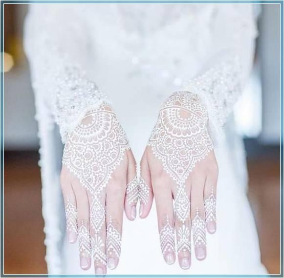 henna kuku warna putih Terbaru