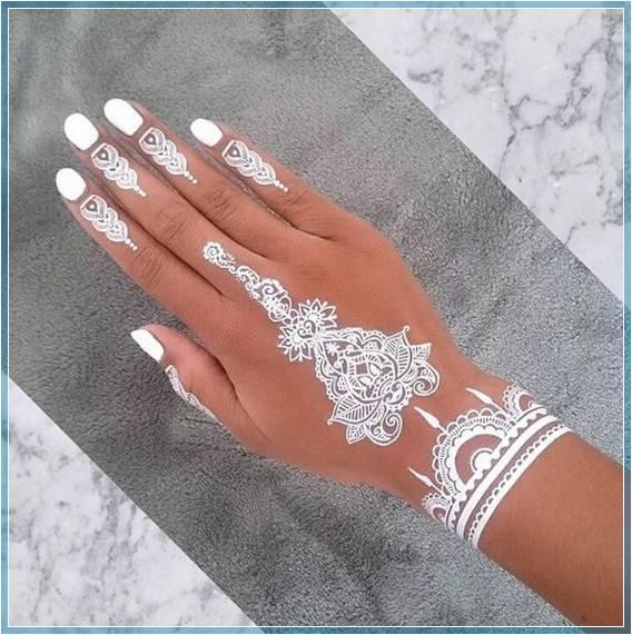 henna putih kuku Terbaru