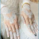 model henna tangan warna putih Terbaru
