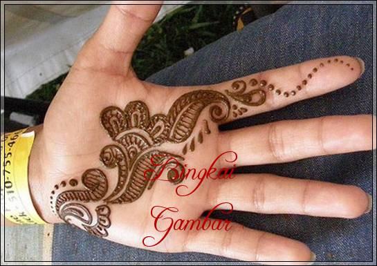 motif henna dari india