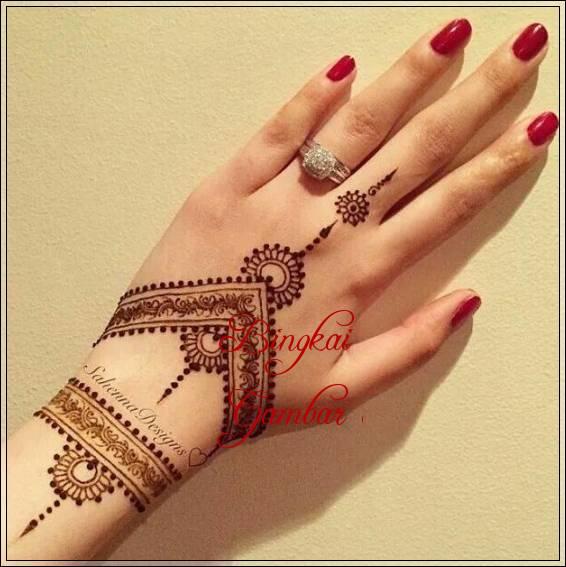 motif henna di india
