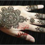 motif henna india sederhana