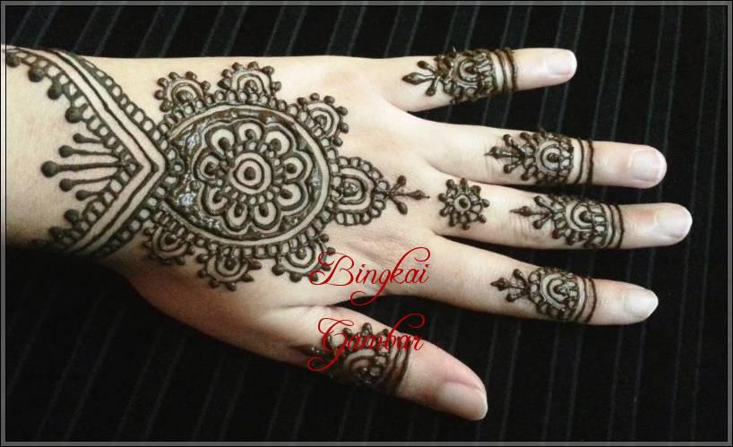 Motif Henna India Sederhana Bingkaigambar Com