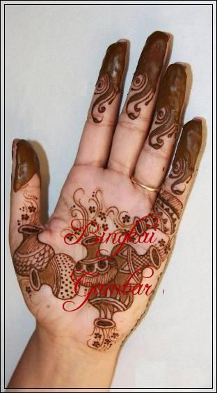 motif henna khas india