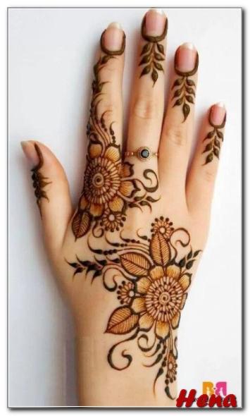 Motif Henna Lengan Tangan Sederhana Bingkaigambar Com
