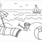 Gambar Sketsa Pemandangan Alam Pantai