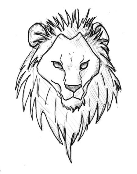 Sketsa Gambar Kepala Singa
