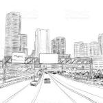 Gambar Sketsa Gedung Kota