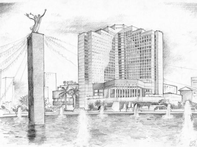 Gambar Sketsa Kota Jakarta