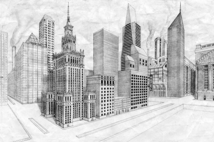 Gambar Sketsa Kota Paris