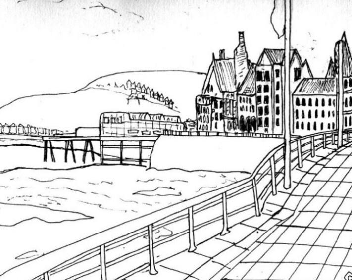 Gambar Sketsa Kota Yang Indah