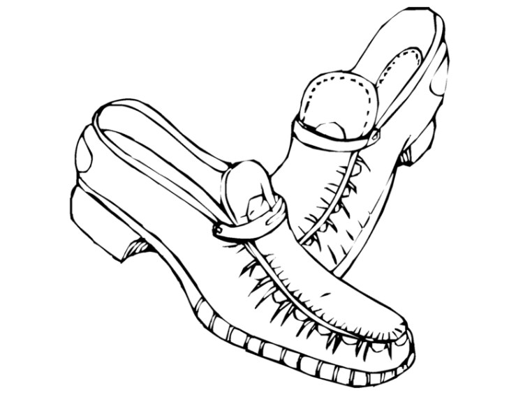 Contoh Gambar Sketsa Sepatu