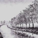 Contoh Sketsa Lukisan Pemandangan