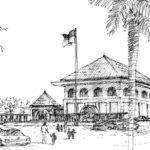 Gambar Sketsa Bangunan Sekolah