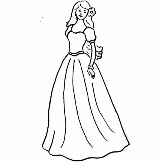 Gambar Sketsa Boneka Barbie