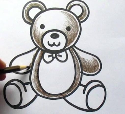 Gambar Sketsa Boneka Teddy Bear