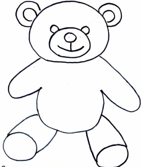 Gambar Sketsa Boneka Teddy