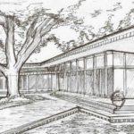 Gambar Sketsa Depan Sekolah