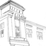 Gambar Sketsa Gedung Sekolah