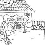 Gambar Sketsa Kegiatan Sekolah