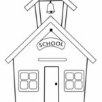 Gambar Sketsa Sekolah Yang Mudah