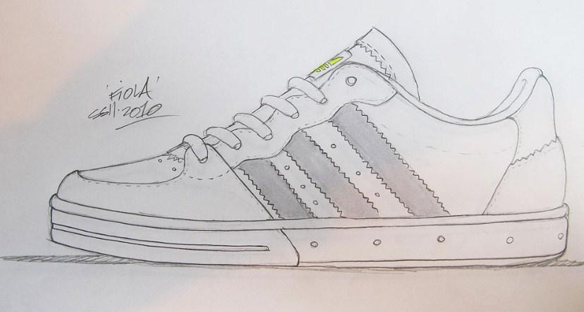 Gambar Sketsa Sepatu Adidas