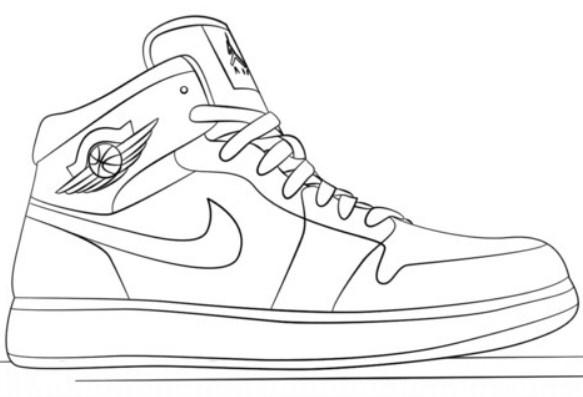 Gambar Sketsa Sepatu Anak