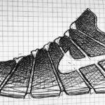 Gambar Sketsa Sepatu Nike