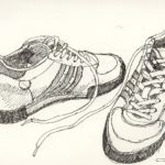 Gambar Sketsa Sepatu Olahraga