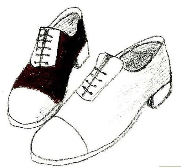 Gambar Sketsa Sepatu Pantofel