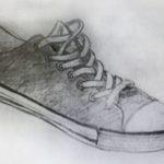 Gambar Sketsa Sepatu Sekolah