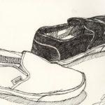Gambar Sketsa Sepatu Vans