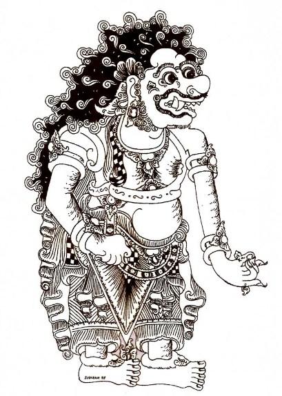 Gambar Sketsa Wayang Bali