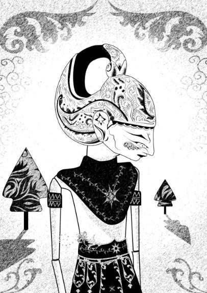 Gambar Sketsa Wayang Golek